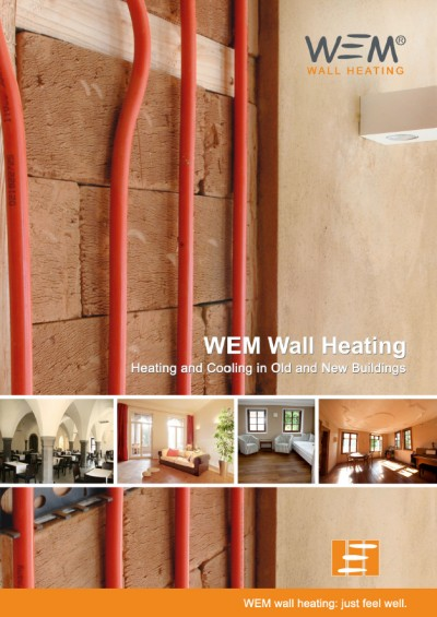 WEM surface heating and cooling in wet construction